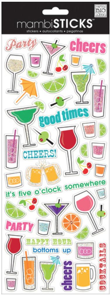 'Cocktails' mambiSTICKS stickers | me & my BIG ideas