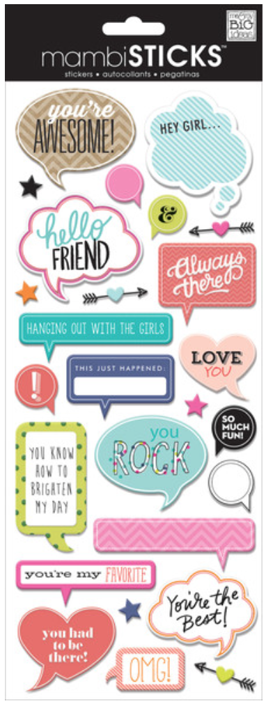 'You're Awesome' mambiSTICKS paper pop-up stickers | me & my BIG ideas