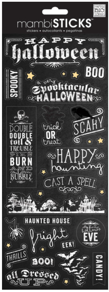 'Happy Halloween' mambiSTICKS sticker sheet | me & my BIG ideas