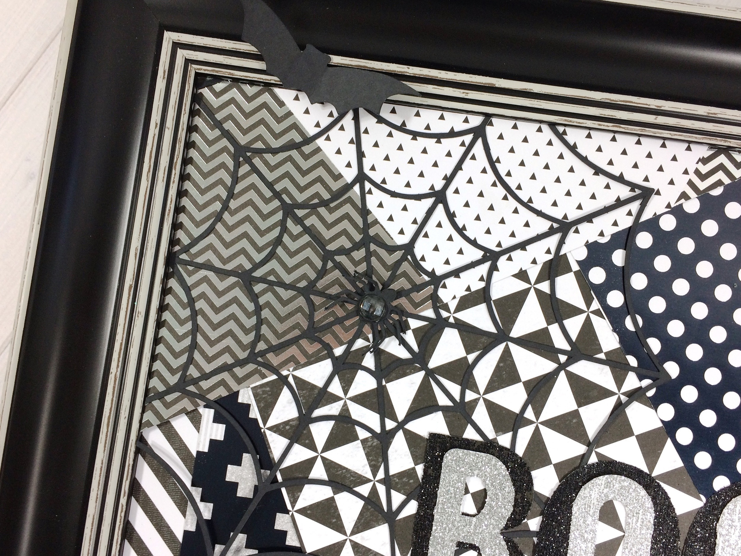 black & white 'BOO' frame by mambi Design Team member Mary-Ann Maldonado | me & my BIG ideas