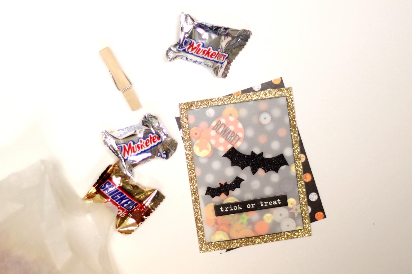Halloween Shaker Pocket w/ candy made by mambi Design Team member Heather Adams | me & my BIG ideas