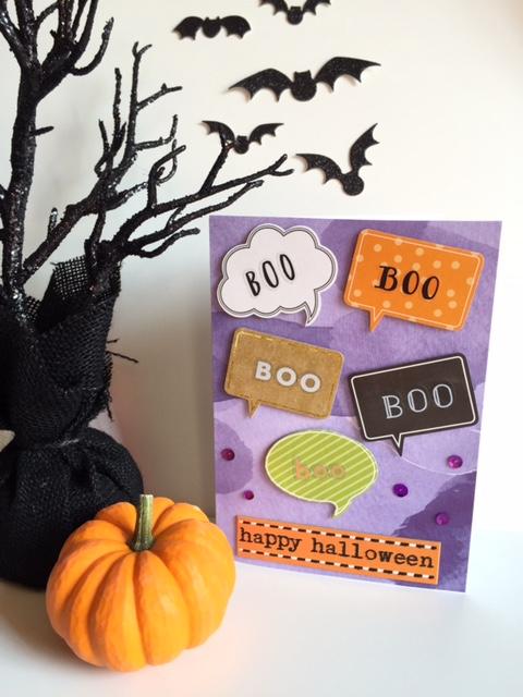 Halloween 'BOO' card made by mambi Design Team member Megan McKenna | me & my BIG ideas