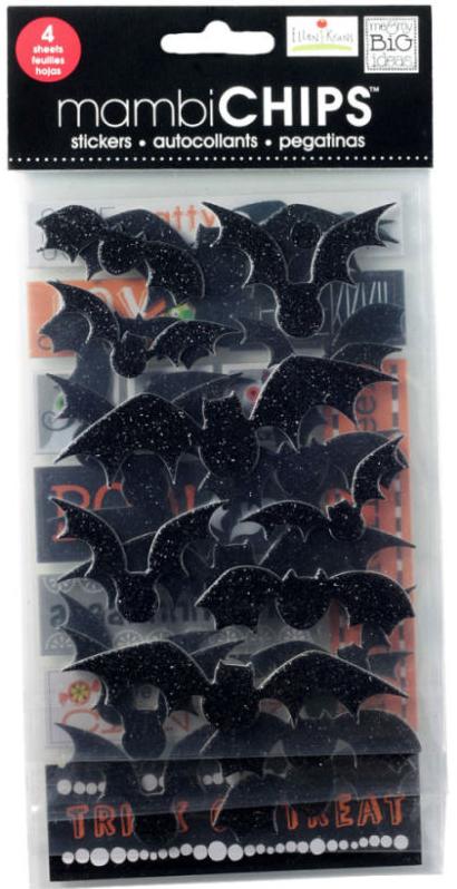 'Bats' mambiCHIPS chipboard sticker pack | me & my BIG ideas