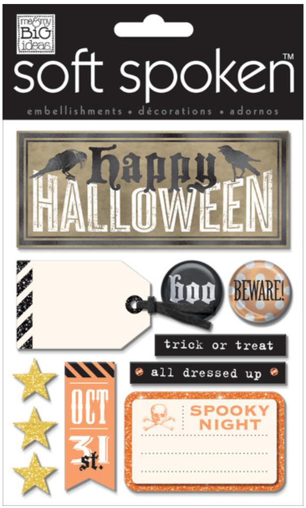 'Happy Halloween' SOFT SPOKEN™ stickers | me & my BIG ideas