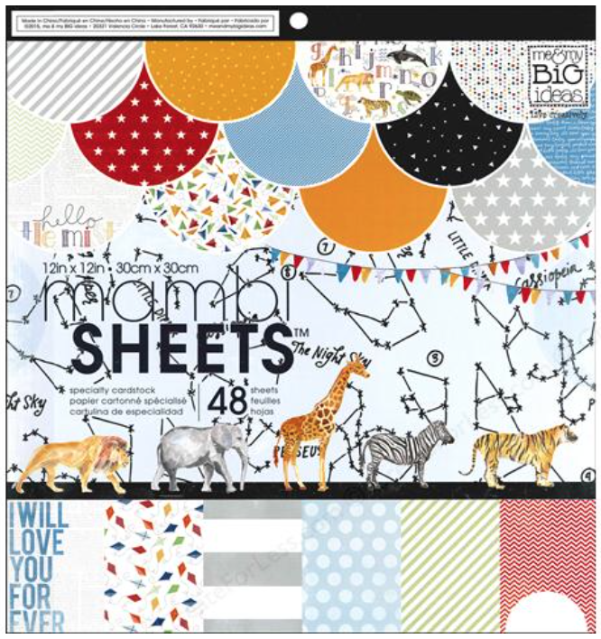 'Cool Baby Boy' 12x12 mambiSHEETS paper pad | me & my BIG ideas