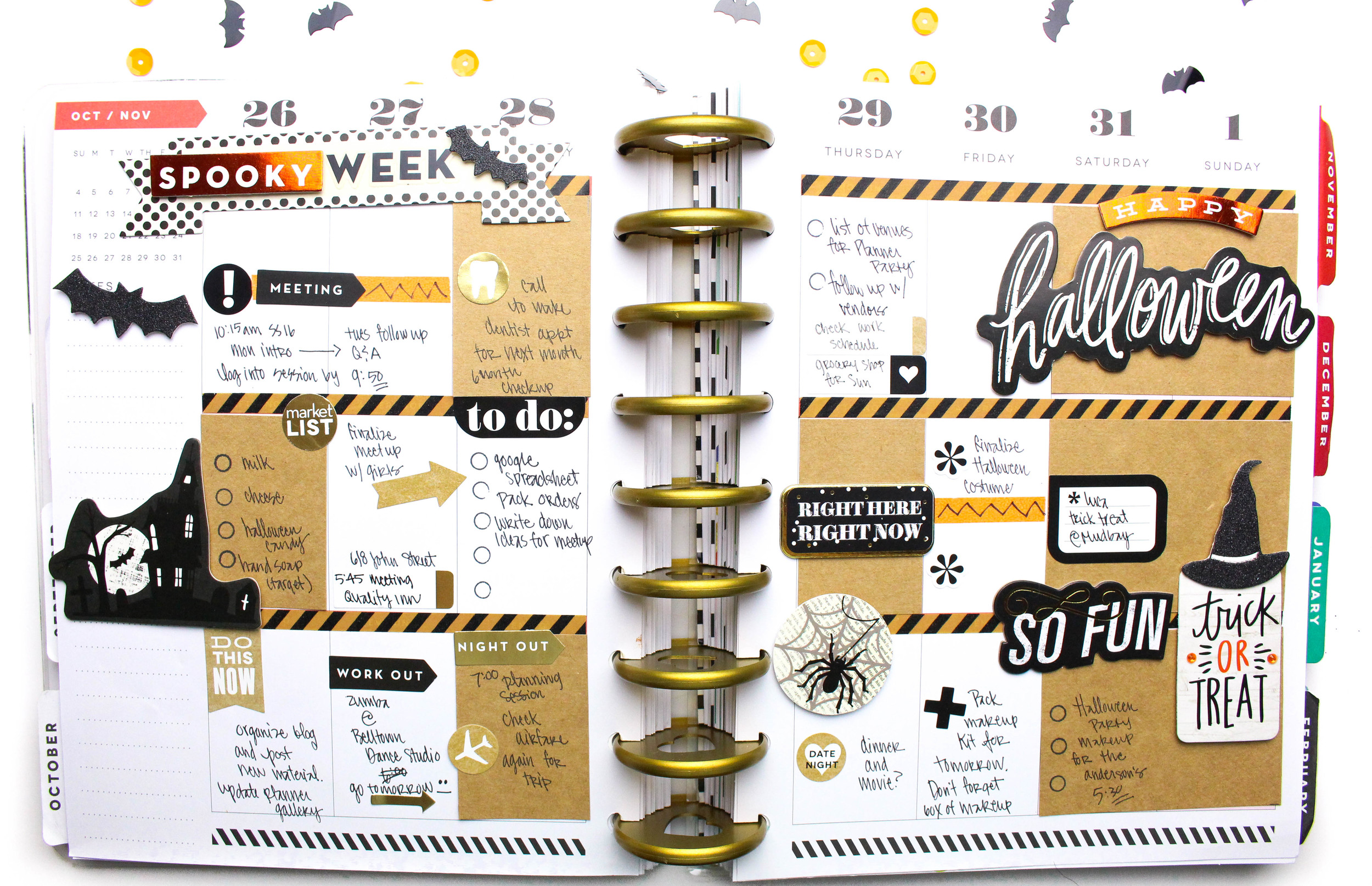 'Happy Halloween' week in The Happy Planner™ od mambi Design Team member Tiffany Ross | me & my BIG ideas