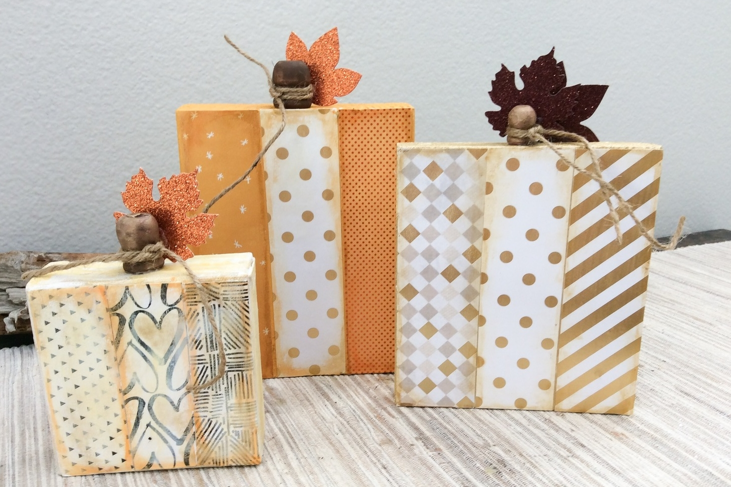 mambiSHEETS wood block pumpkins