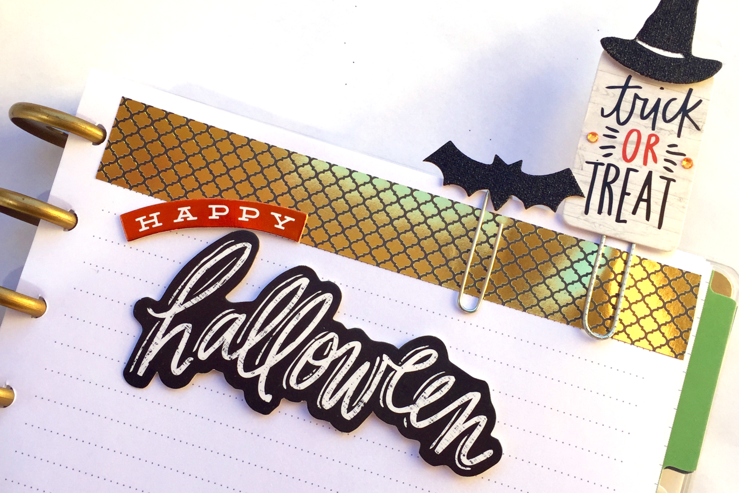 DIY Halloween page markers
