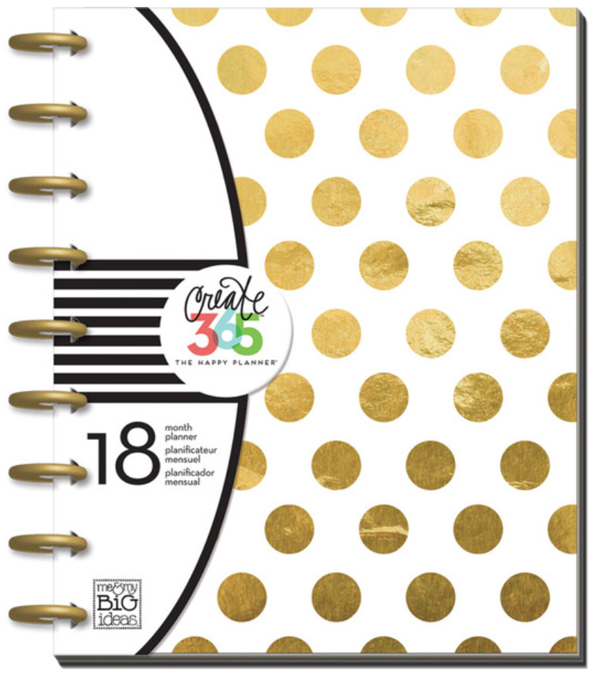 2015- 2015 'Gold Foil Dots' Happy Planner | me & my BIG ideas