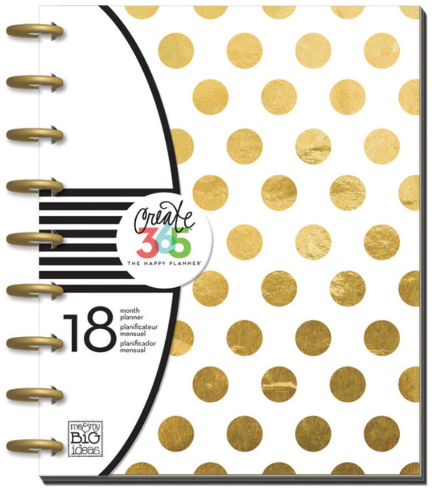 2015- 2015 'Gold Foil Dots' Happy Planner | me & my BIG ideas