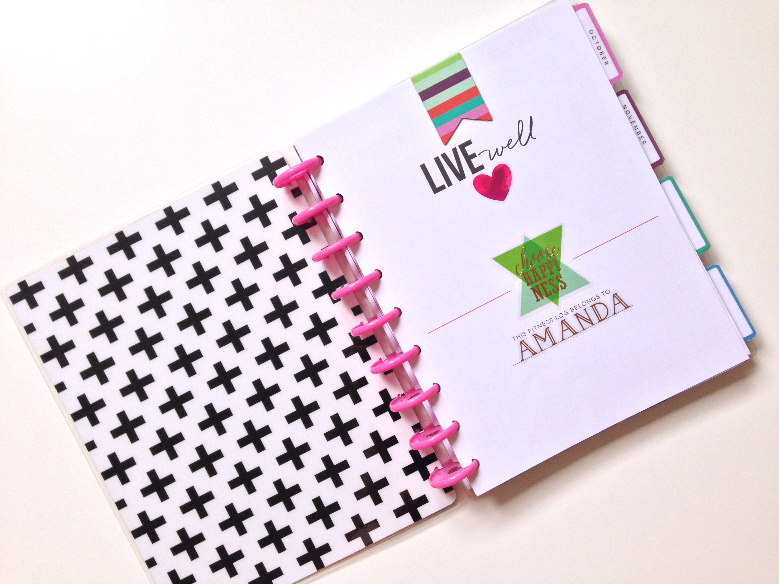 mambi Social Media Coordinator Amanda Rose Zampelli's setup of The Happy Planner™ Fitness Planner | me & my BIG ideas