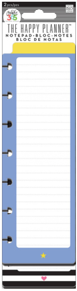 'Star & Heart' notepads for Create 365™ The Happy Planner™ | me & my BIG ideas