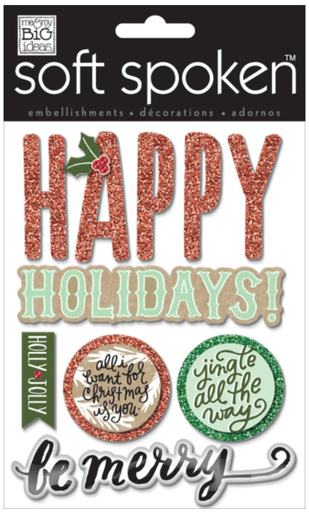 'Jingle All The Way' SOFT SPOKEN™ dimensional embellishment stickers   me & my BIG ideas