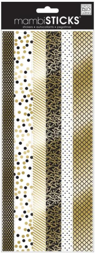 black & gold mambiSTICKS border stickers   me & my BIG ideas