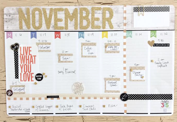 November Weekly Planner Pad by mambi Design Team member Jen Randall | me & my BIG ideas