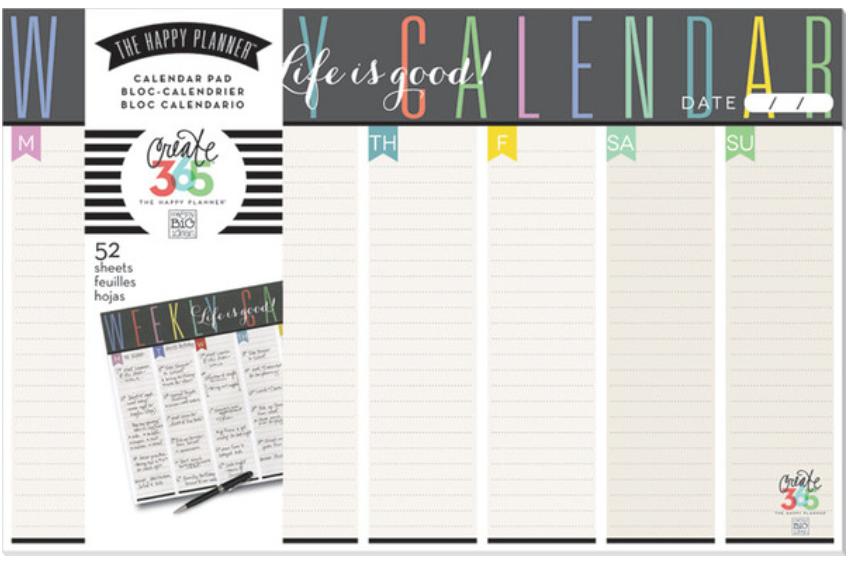 The Happy Planner™ Weekly Planner Pad | me & my BIG ideas