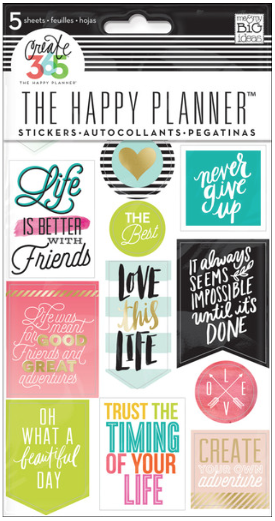 'Life Quotes' sticker for Create 365™ The Happy Planner™ | me & my BIG ideas