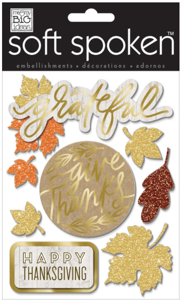 'Give Thanks' SOFT SPOKEN™ dimension stickers | me & my BIG ideas