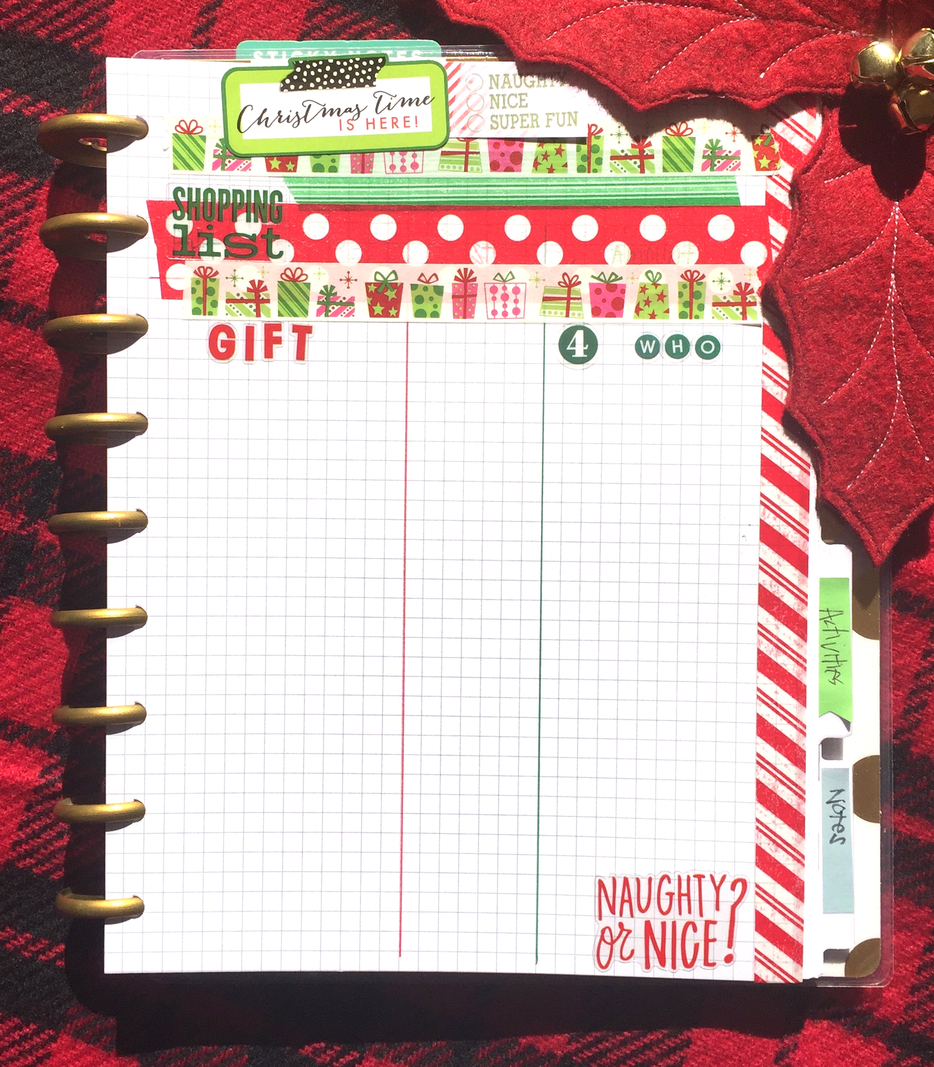 turning The Happy Planner™ into a Christmas Planner by mambi Design Team member Casie Gutierrez | me & my BIG ideas