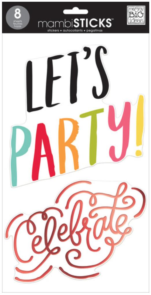 'Celebrate' mambiSTICKS jumbo sticker pack | me & my BIG ideas