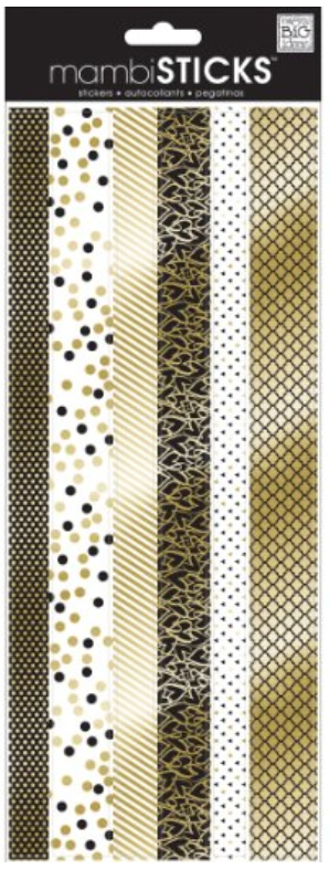 Gold, Black, and White mambiSTICKS border stickers | me & my BIG ideas