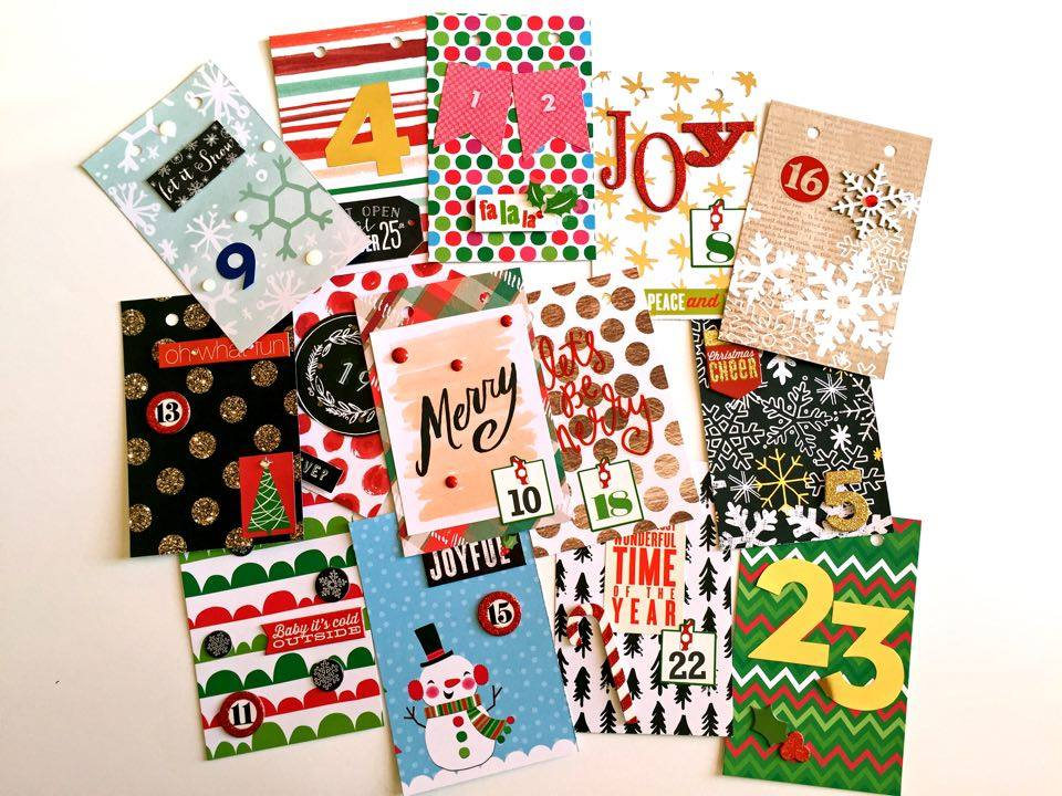 a Countdown to Christmas flip book by mambi Design Team member Megan McKenna | me & my BIG ideas