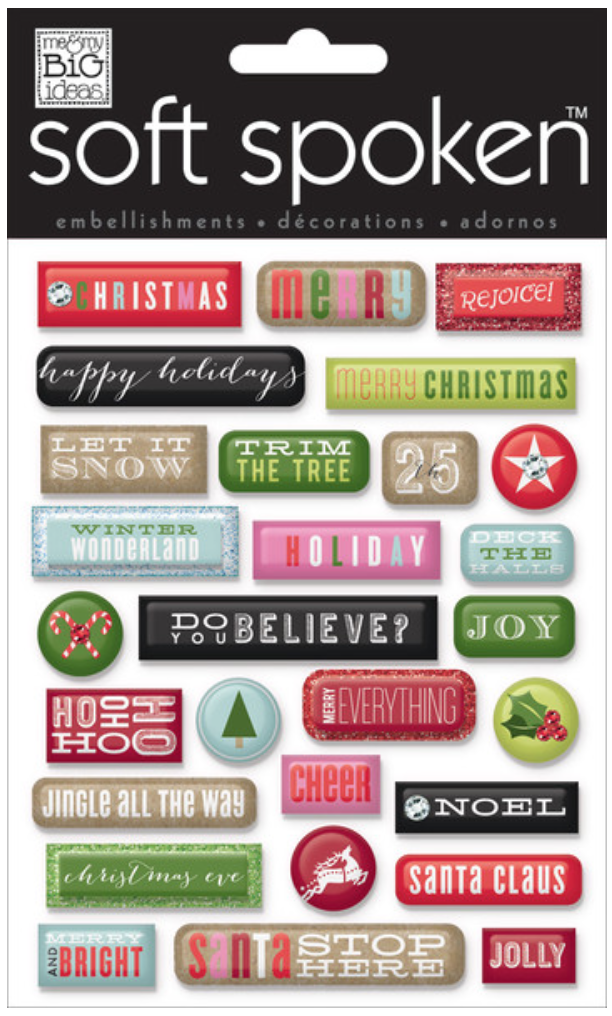 'Christmas Pebbles' SOFT SPOKEN™ dimensional stickers | me & my BIG ideas