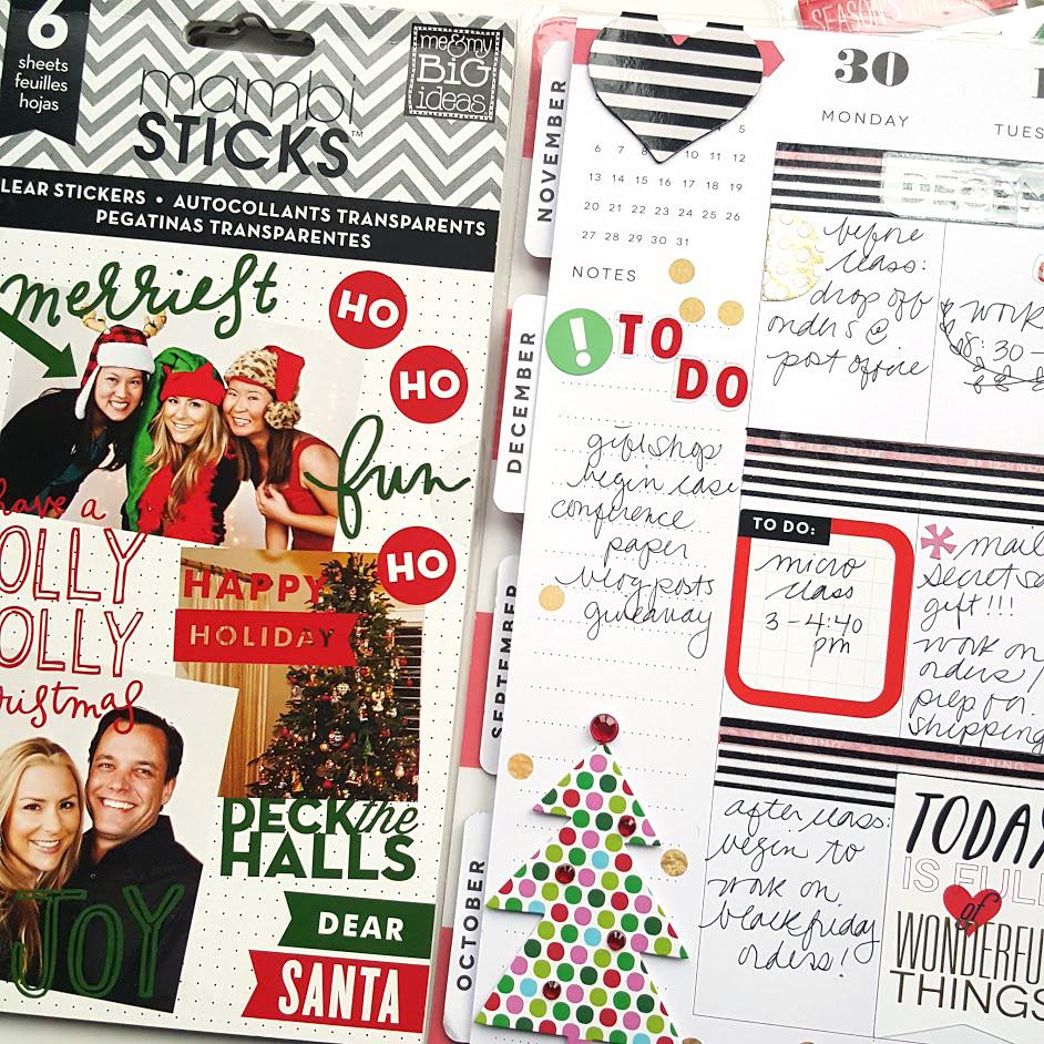 the first week of December in The Happy Planner™ of mambi Design Team member Kiara Vega   me & my BIG ideas