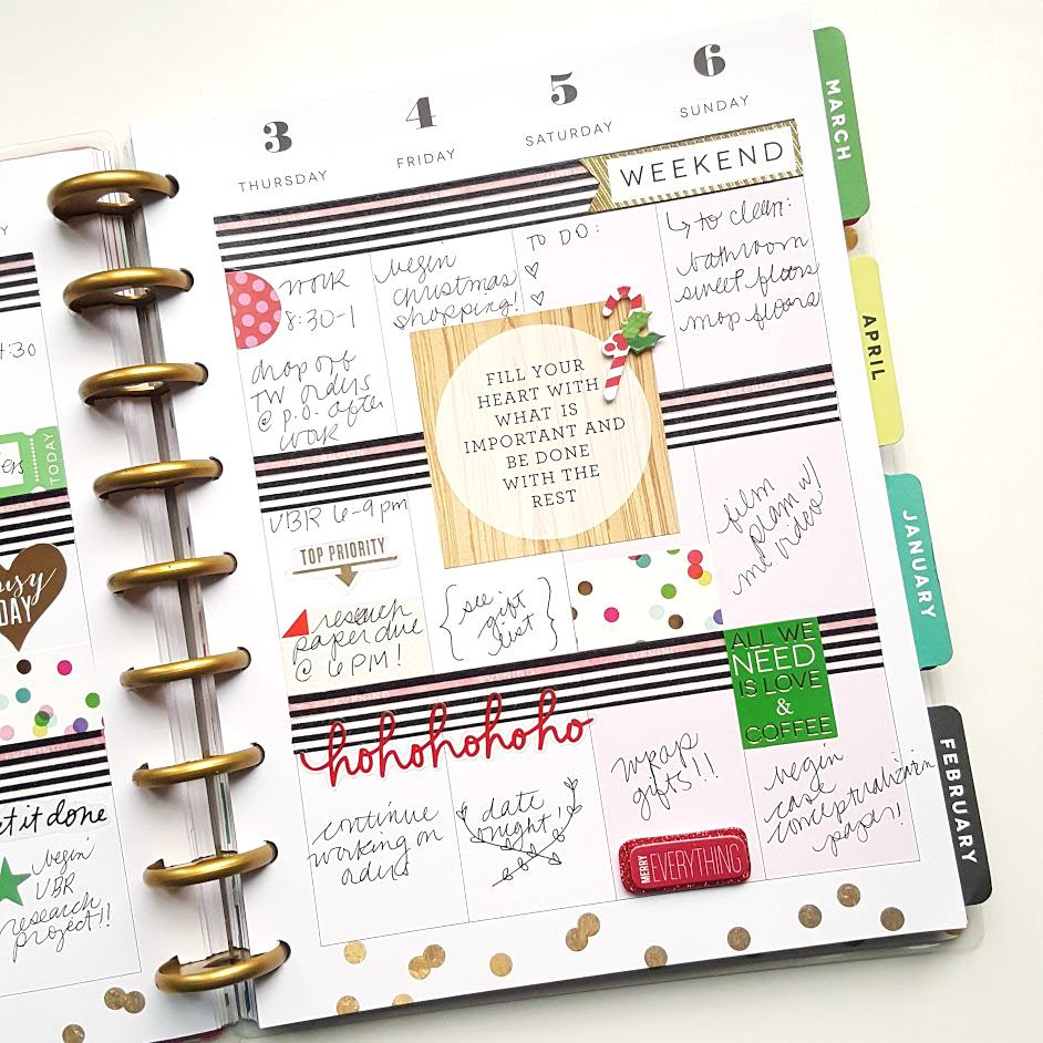 the first week of December in The Happy Planner™ of mambi Design Team member Kiara Vega | me & my BIG ideas