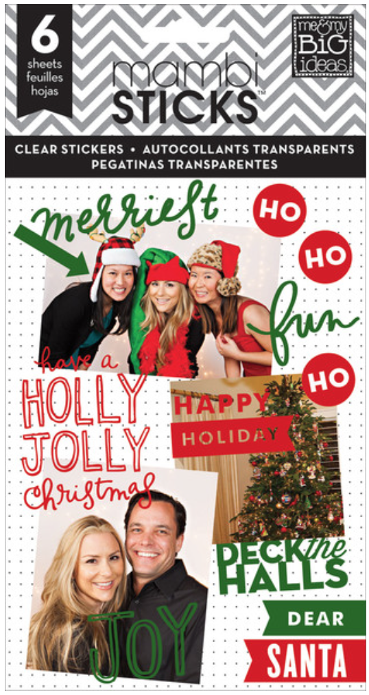 'Holly Jolly Christmas' mambiSTICKS sticker pad   me & my BIG ideas