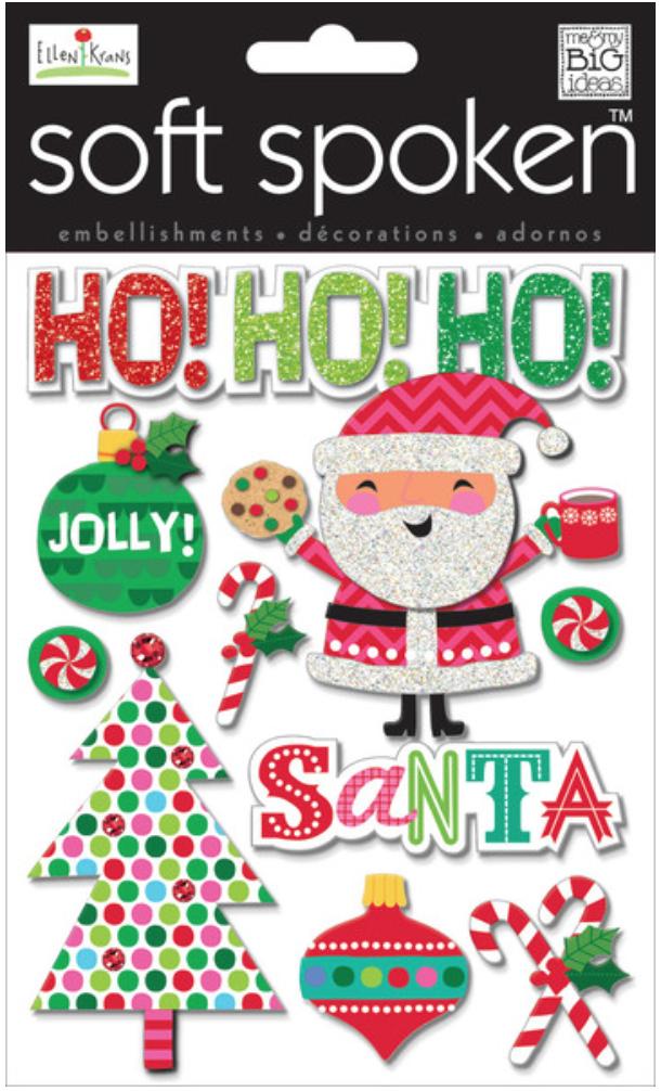 'Jolly Santa' SOFT SPOKEN™ dimensional stickers | me & my BIG ideas