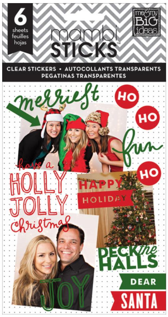 Holly Jolly Christmas mambiSTICKS sticker pad | me & my BIG ideas