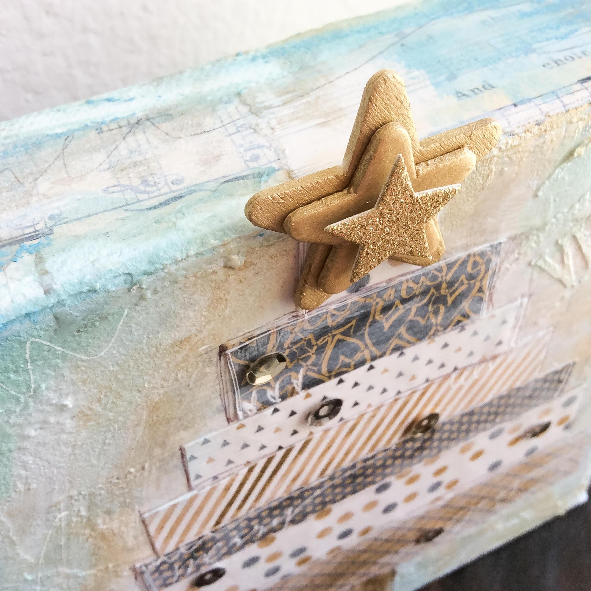 mixed media Christmas Tree canvas by mambi Design Team member Jen Randall | me & my BIG ideas