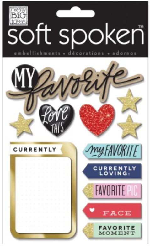 'My Favorite' SOFT SPOKEN™ dimensional stickers | me & my BIG ideas