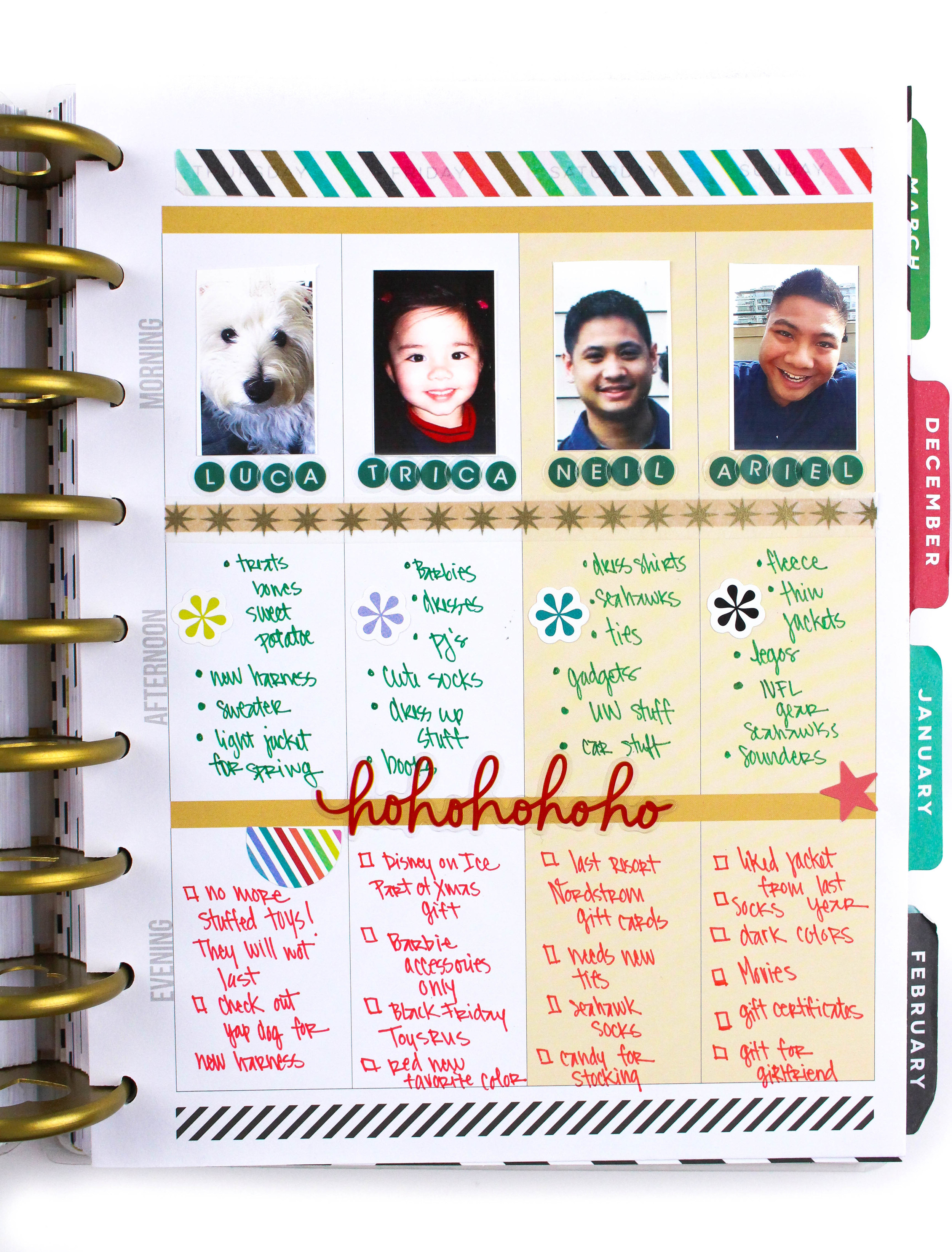 Christmas Wish List Ideas.The Happy Planner Weekly Layout Christmas Wish List Me