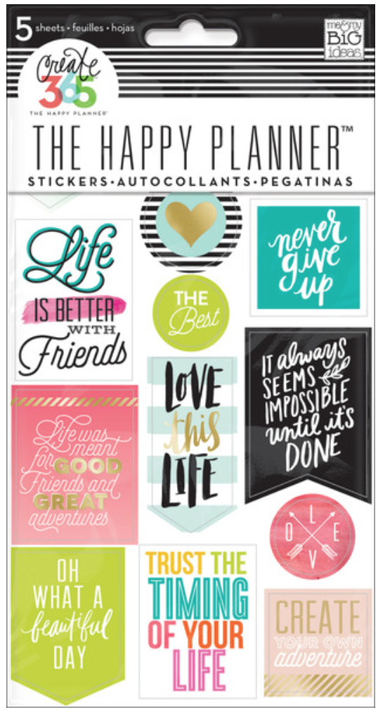 'Life Quotes' stickers for The Happy Planner™ | me & my BIG ideas