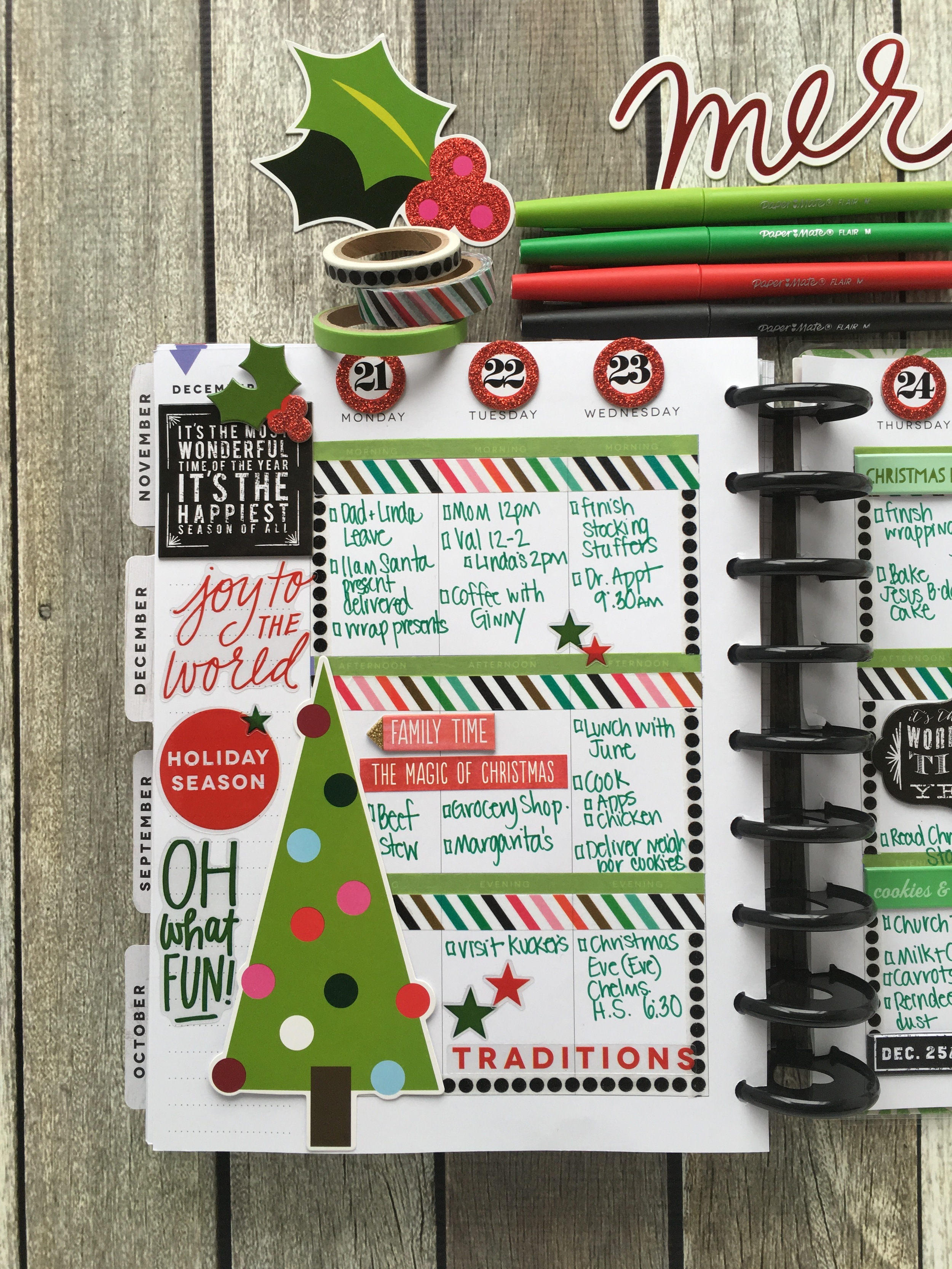 Merry Christmas week in The Happy Planner™ of mambi Design Team member Mary-Ann Maldonado | me & my BIG ideas