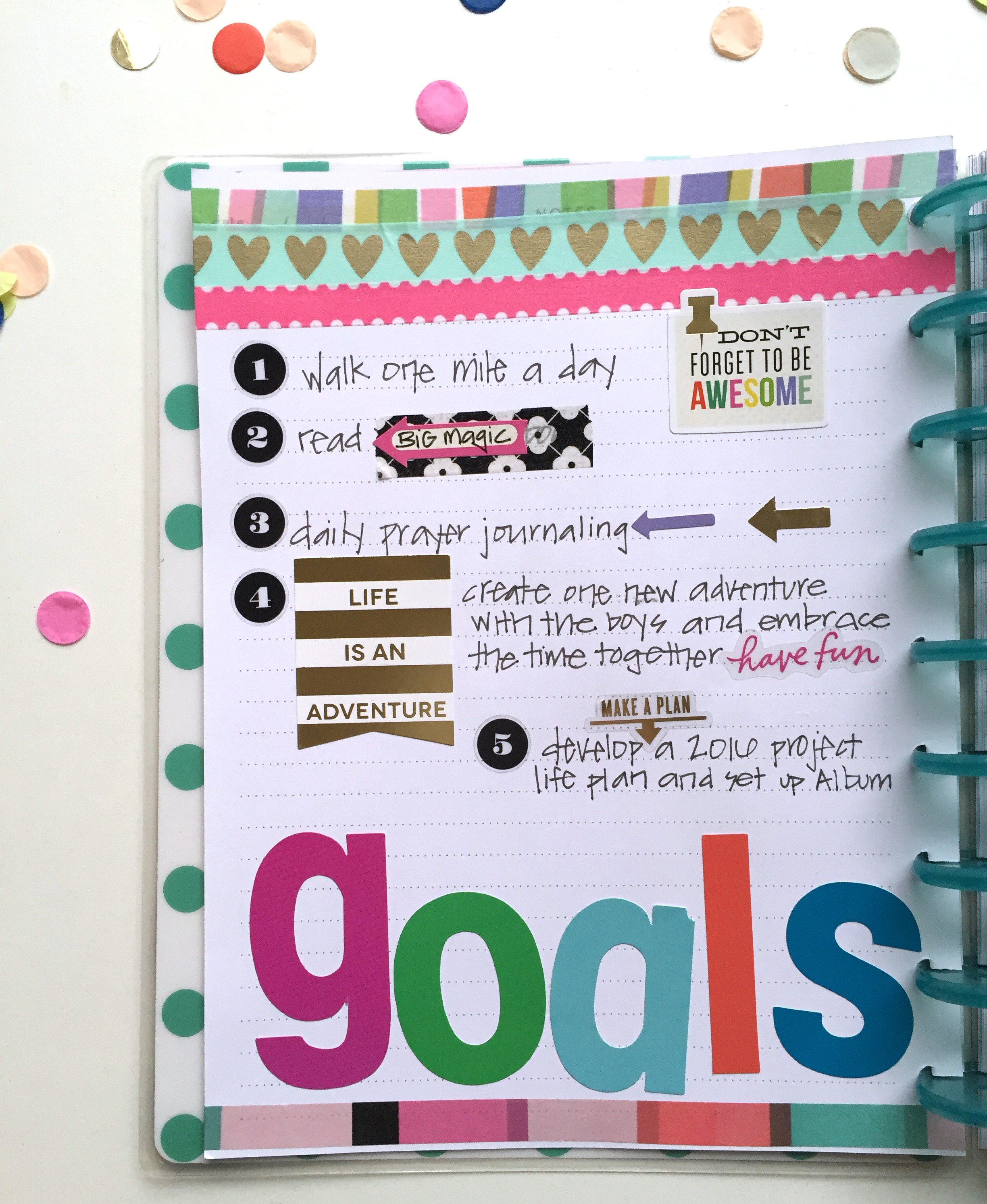 The Happy Planner™ | January goals & setup — me & my BIG ideas