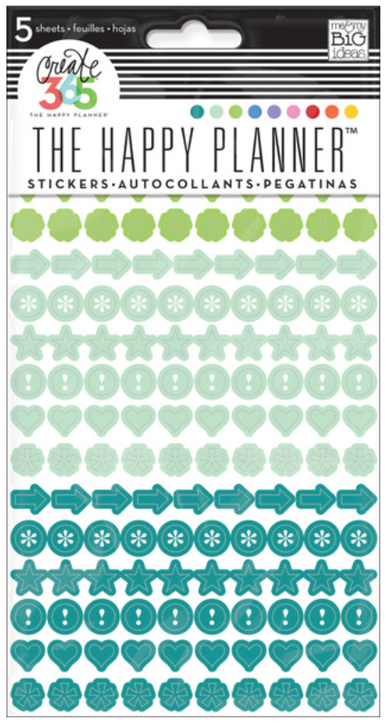 'Colorful Dots' sticker value pack for The Happy Planner™ | me & my BIG ideas