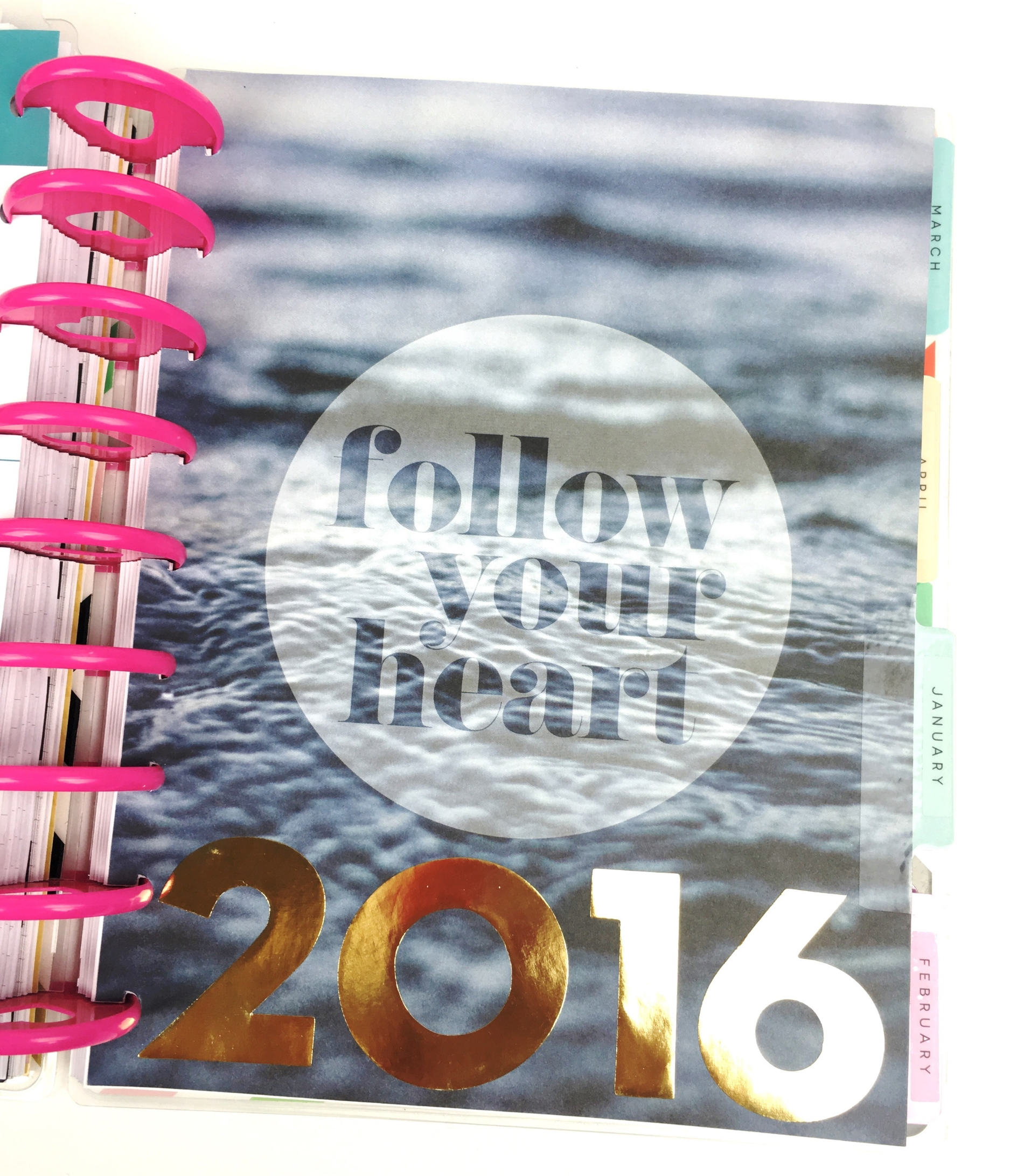 positivity for 2016 & January in The Happy Planner™ of mambi Design Team member Chantal Stevens | me & my BIG ideas