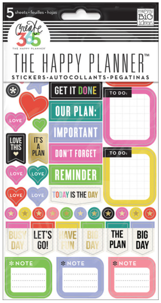 'Everyday Reminders' sticker value pack for The Happy Planner™ | me & my BIG ideas