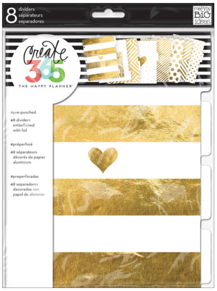 Gold Foil Dividers for The Happy Planner™ | me & my BIG ideas