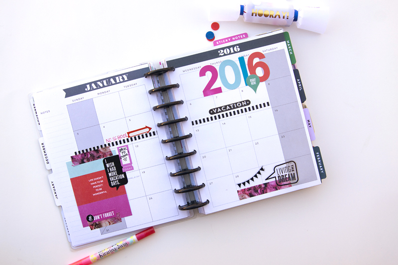 a blank-ish monthly view in The Happy Planner™ of mambi Design Team member Jennie McGarvey | me & my BIG ideas