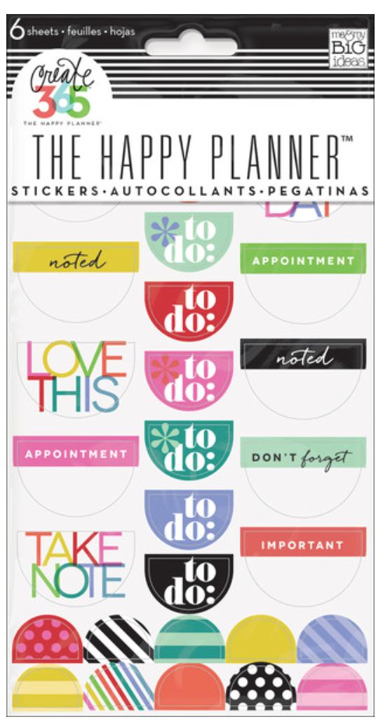Bright 'To Do' stickers for The Happy Planner™ | me & my BIG ideashttp://shop.meandmybigideas.com/products/good-day-brights