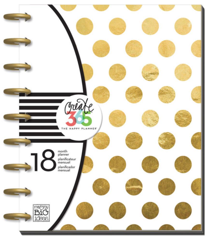2015-2016 'Gold Foil Dots' Happy Planner™ | me & my BIG ideas