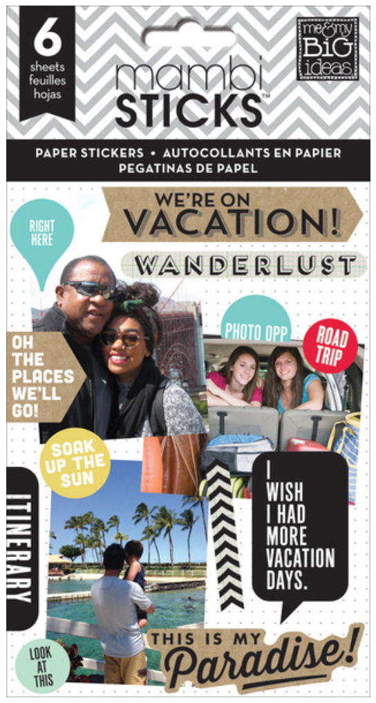 'We're on Vacation' mambiSTICKS sticker value pack | me & my BIG ideas