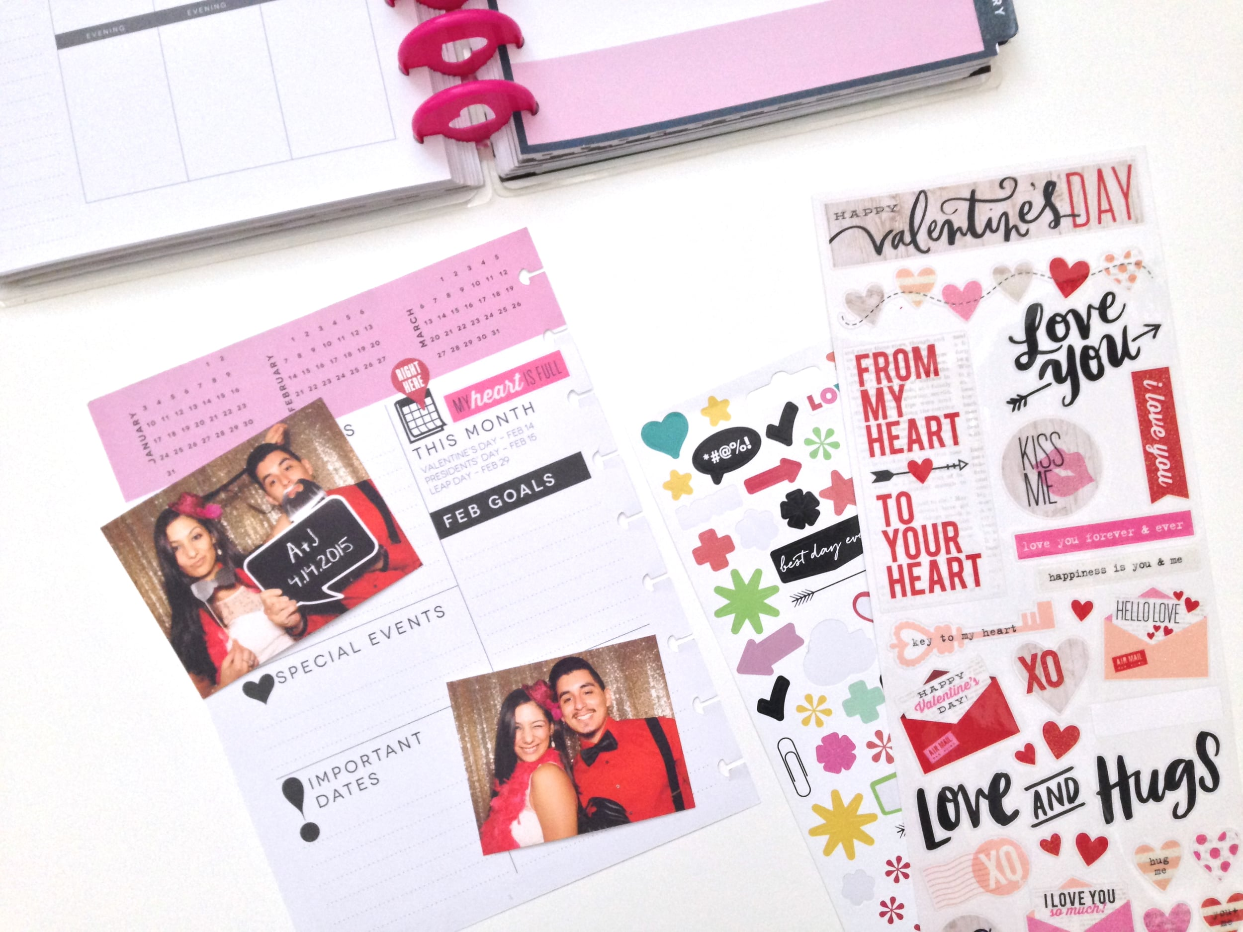 February Dashboard page in The Happy Planner™ of mambi Social Media Coordinator Amanda Zampelli | me & my BIG ideas