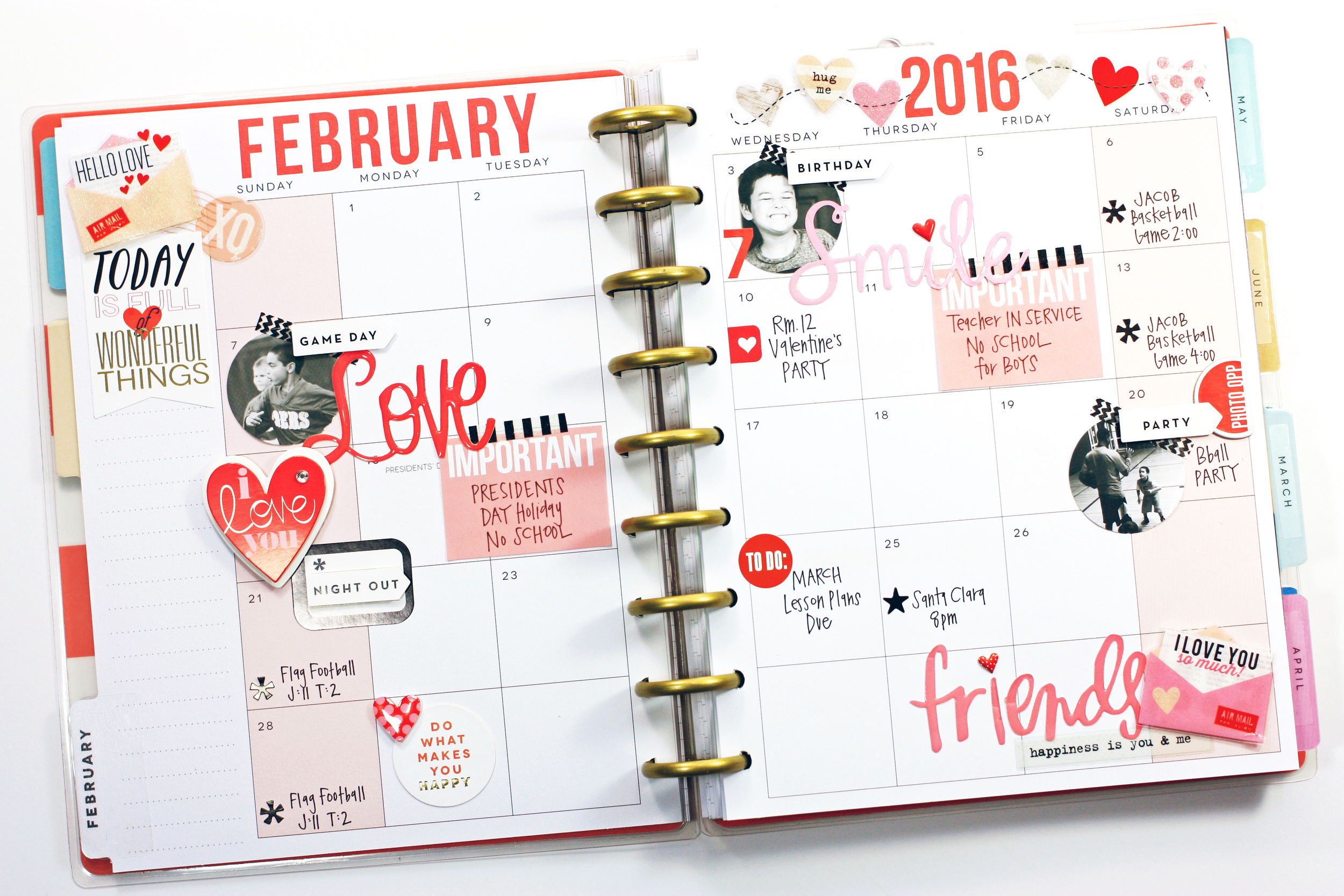Dynamic image with happy planner monthly layout printable