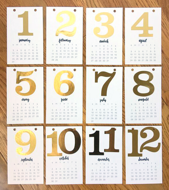 DIY 2016 Desk Calendar project by mambi Design Team member Janna Wilson | me & my BIG ideas