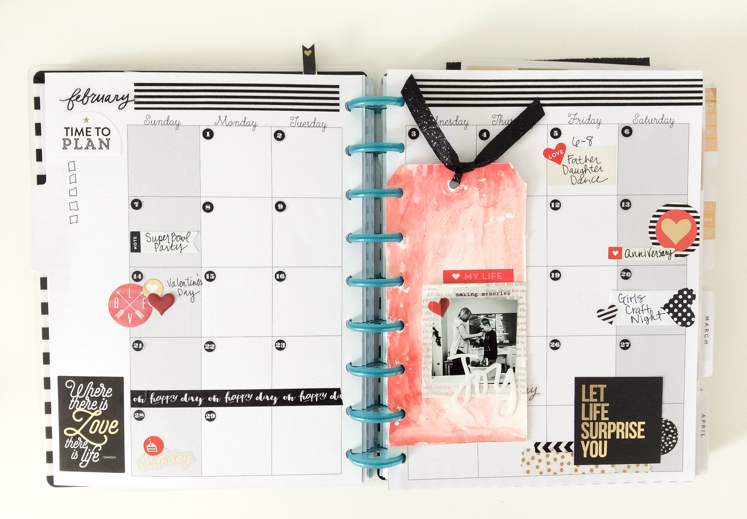 getting PUNCH happy (!!!) in The Happy Planner™ of mambi Design Team member Jen Randall | me & my BIG ideas